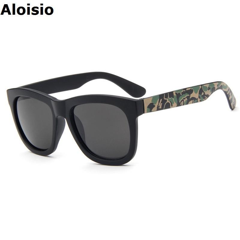 Wholesale- Aloisio Brand Designer Men Sunglasses Camouflage Plastic ...