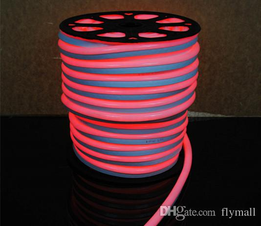110V 220V LED 플렉스 네온 로프 빛 방수 80led / M LED 네온 튜브 유연한 스트립 라이트 실내 실외 조명 크리스마스 장식