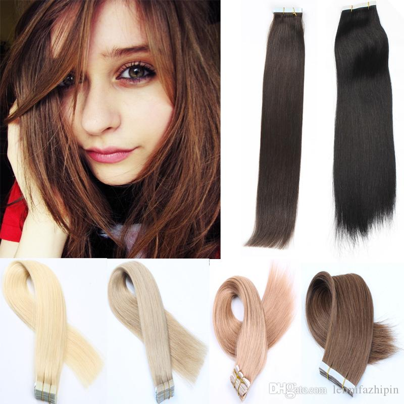 Resika Best Selling Straight Tape In Hair Extensions 16 24 Inch 100