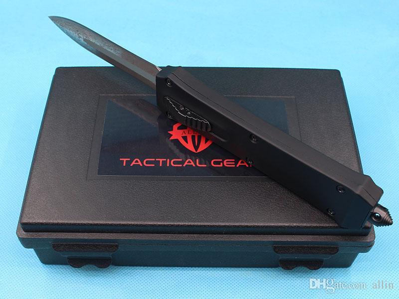 Promotion Allvin Herstellung A162 Auto Taktisches Messer 440c Doppel Action Speerpunkt Klinge Outdoor Camping Wandern Survival EDC-Ausrüstung