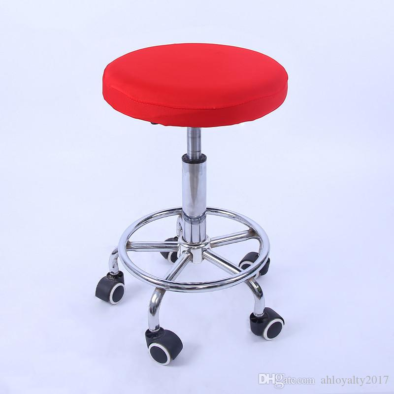 Plain Color Cotton Seat Cover Small Stool Chair Cover Small Round Stool Seat Cover Diameter 28-33cm