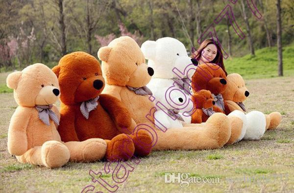 2018 New Arriving Giant Right-angle measurements 200CM/78''inch TEDDY BEAR PLUSH HUGE SOFT TOY Plush Toys Valentine's Day gift brown