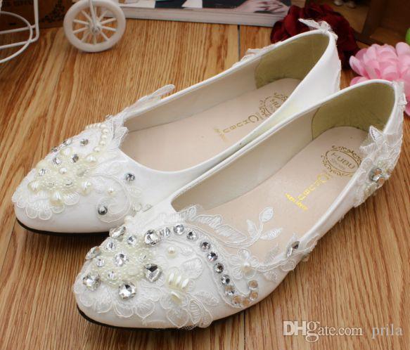 Asymmetrical Design Fashion Lace Flats Wedding Shoes Woman Silver  Rhinestones Diamond Pearls Decoration Dg196 Bridal Shoes Womens Cheap Shoes  Dansko Shoes ...