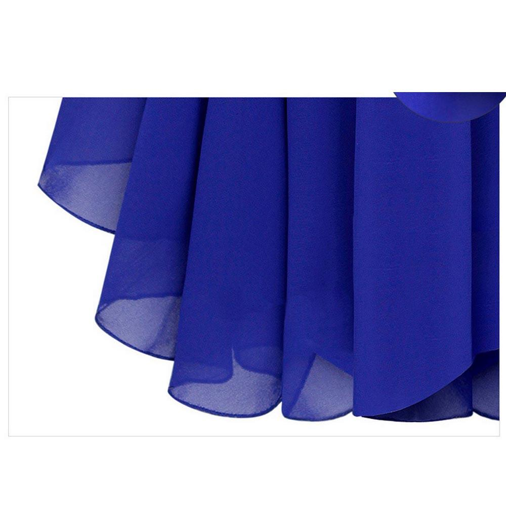 Mulheres Meninas Verão Azul Preto Coreano Moda Feminina Casual Fino Elegante Diamante Strap Irregular Hem Chiffon Vestido Sexy A0253