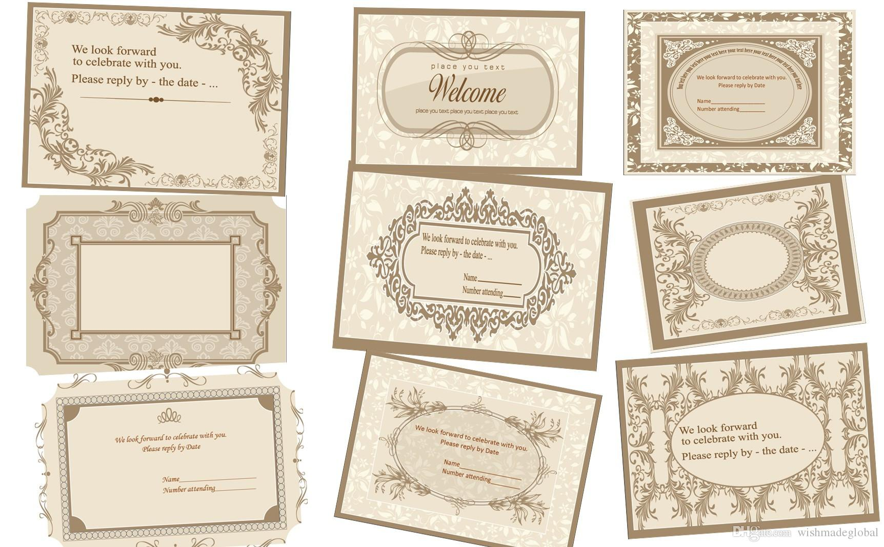 Custom personalized RSVP card 5.5*4 inches 140*100mm, single-side color printing, free envelope, any text and any font
