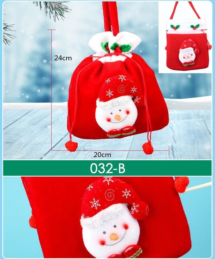 Saco de dulces de Navidad Bolsas de regalo de Navidad Cordón de regalo Paquete de regalo Paquete a granel de Bolsas de sorpresas de colores neón multicolores Sacos