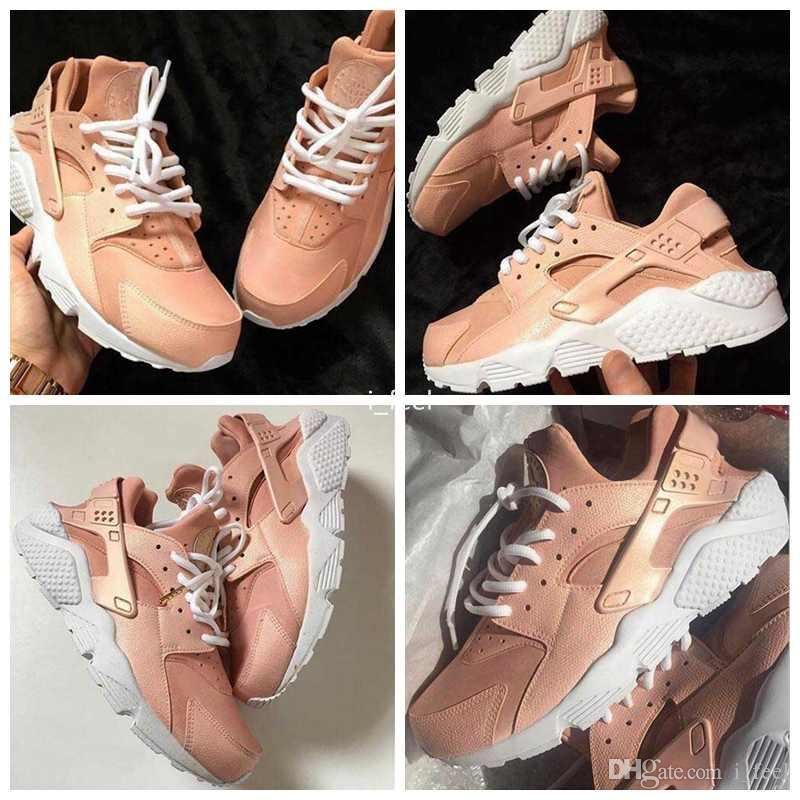 618b86b7460 2017 New Customised Air Huarache Nude Pink Running Shoes For Women Kylie  Boon Light Pink High Quality Huaraches Trainers Huraches Shoe 36 40  Trainers Shoes ...