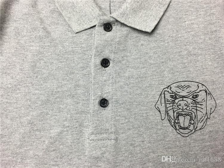 2017 new casual tshirt fashion t shirt men high quality t-shirt short sleeved Chest dog rottweiler printed printing Tops & Tees