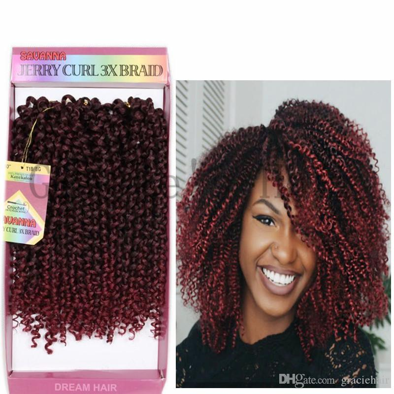 2018 Kinky Curly Synthetic Hair Extensions Jerry Curl Freetress Hair