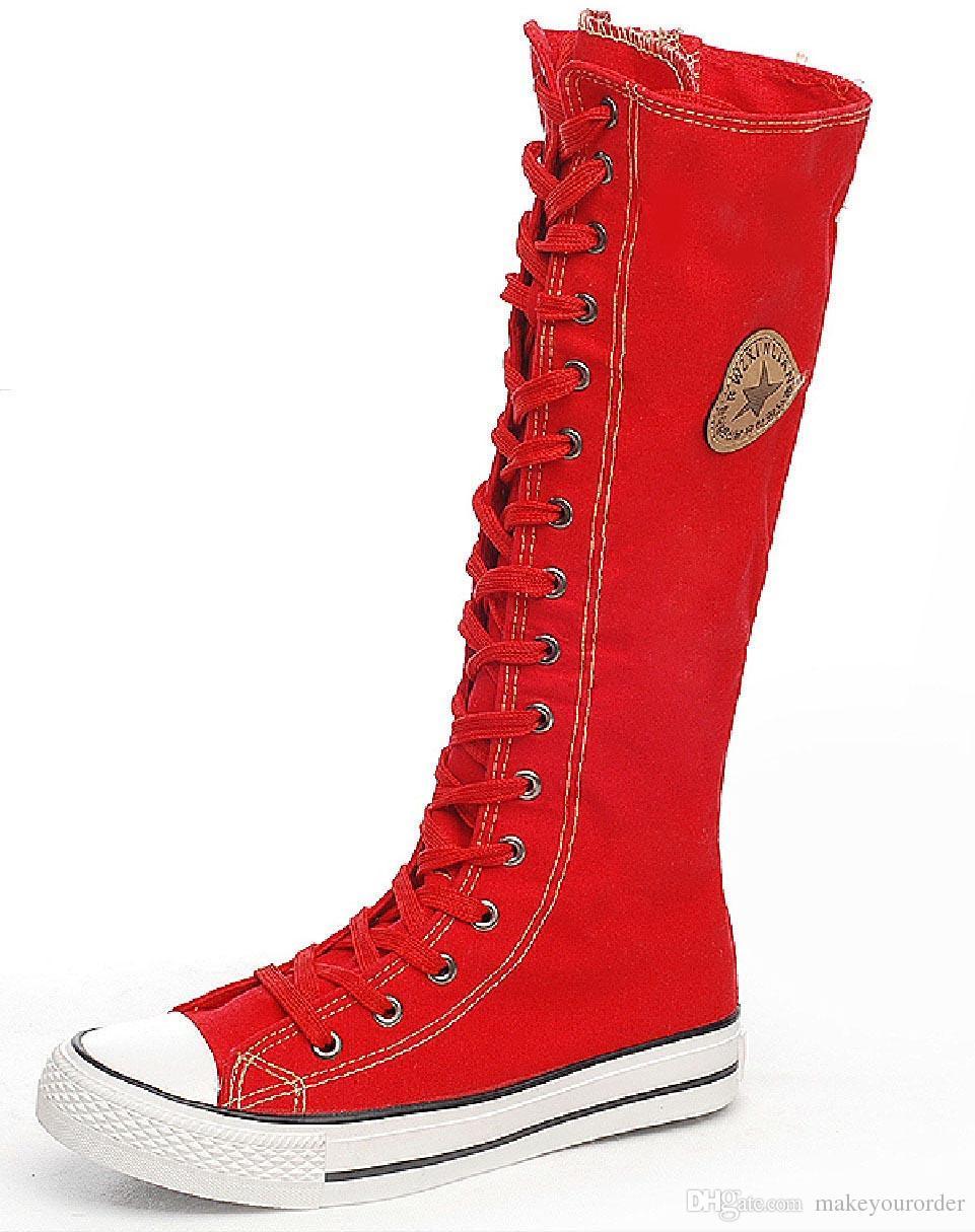 تاجر الجملة الحرة الشحن حار البائع السوستة الجانبية نقية اللون الأحذية القماشية مع الأحذية المسطحة طويل القامة الأحذية النسائية قماش 205