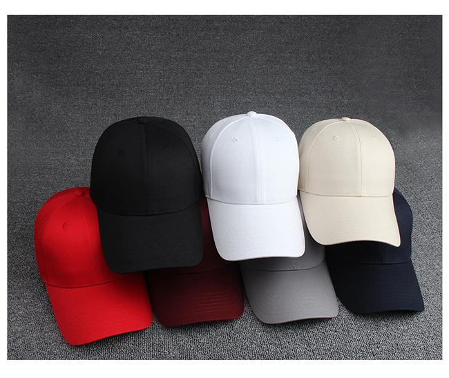 8 solid colors custom cap baseball for man/women lead light baseball cap sport snapback fit baseball cap