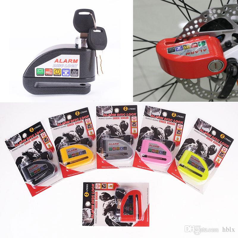 Sicurezza Proteggere Moto Moto Anti Ladro Bici Elettrica Scooter Wheel Disc Brake Lock Lock Serratura in lega di zinco Sirena MOT_50I