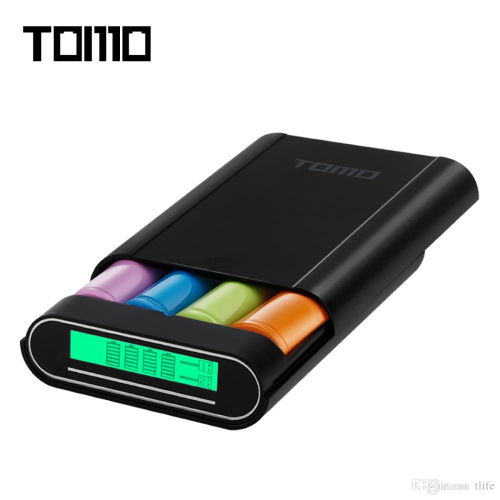 TOMO 4 x 18650 Li-ion Battery DIY Smart Power Charger Powerbank Case Portable DIY Power Bank Box Charger For 18650 Battery Hot +B