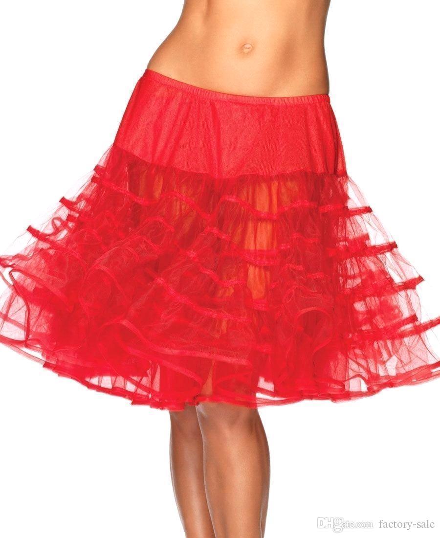Black Short Tulle Petticoat Crinolines Vintage Bridal Petticoats for Wedding Dress Underskirt Rockabilly Tutu Jupon Mariage CPA298