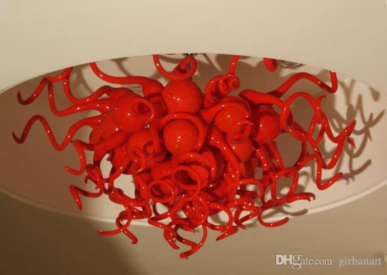 Plafoniere Rosse : Acquista decorazione domestica plafoniere in vetro rosso