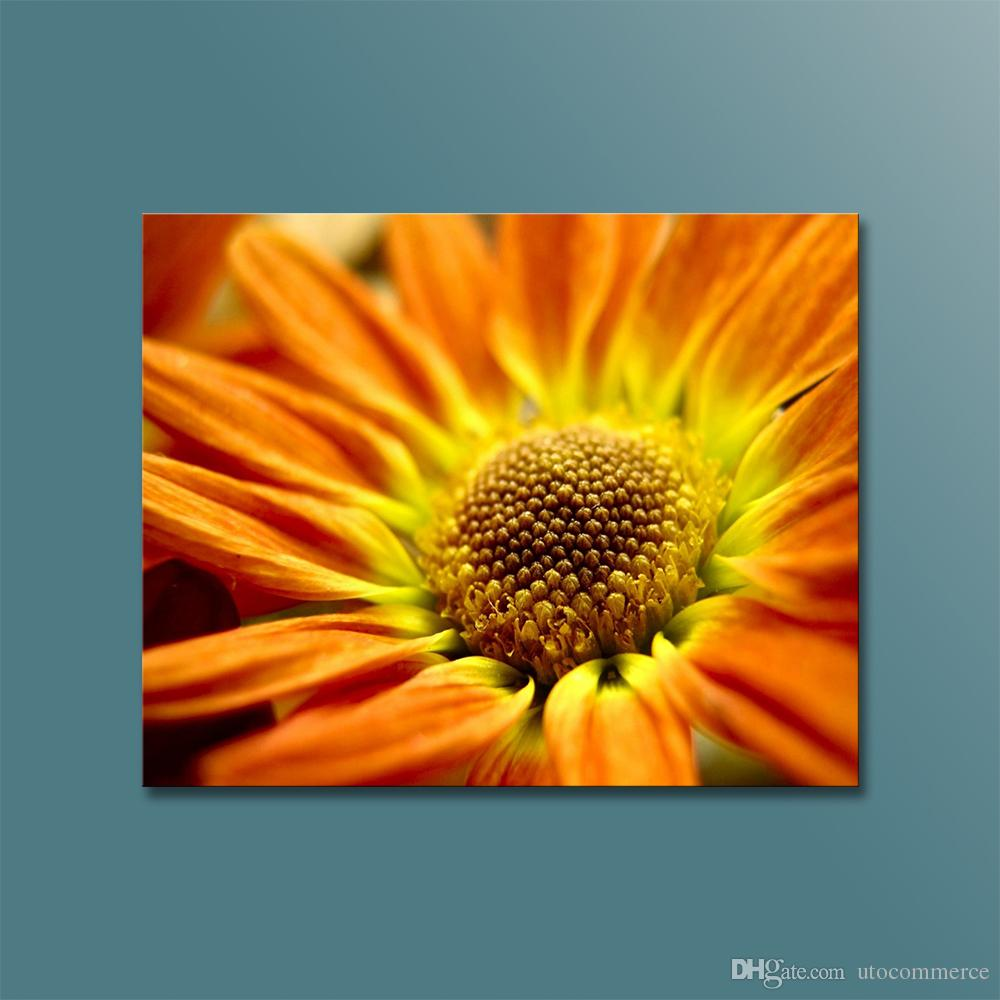 Modern Wall Decoration Painting Canvas Art Print Yellow Flower Modular Pictures Digital Photo Print on Canvas for Living Room
