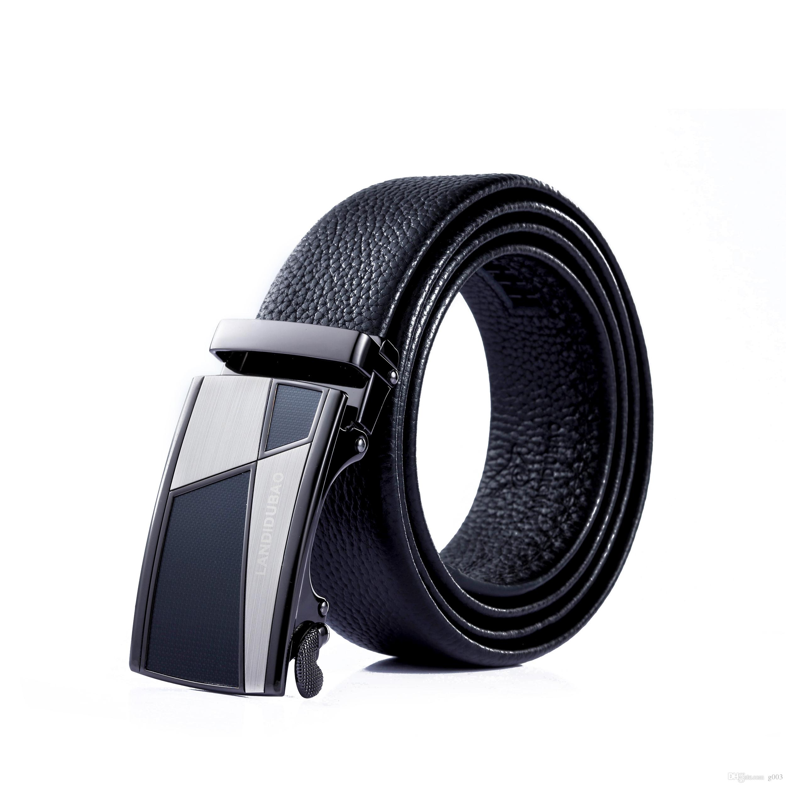 Men's Belts Cheap Price Crocodile Leather Men Belts High Quality Luxury Design Solid Black Brown Male Belts Casual Golden Silver Buckle Strap Size 125cm