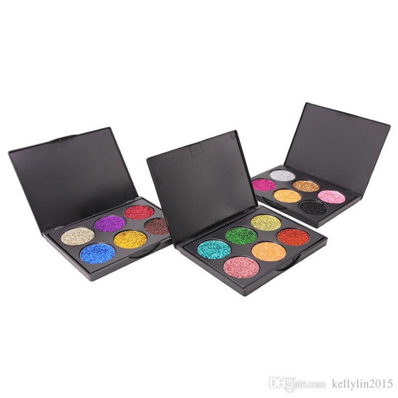 Glitter Eyeshadow Palette Popfeel Makeup Diamond Eye Shadow Powders Beauty Cosmetics Sets Shimmer Eyeshadow Palettes