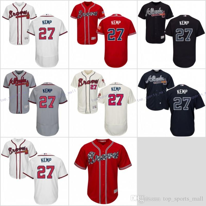 1f1ce3010 Compre Venta Caliente   27 Matt Kemp Jersey 2017 Atlanta Braves ...