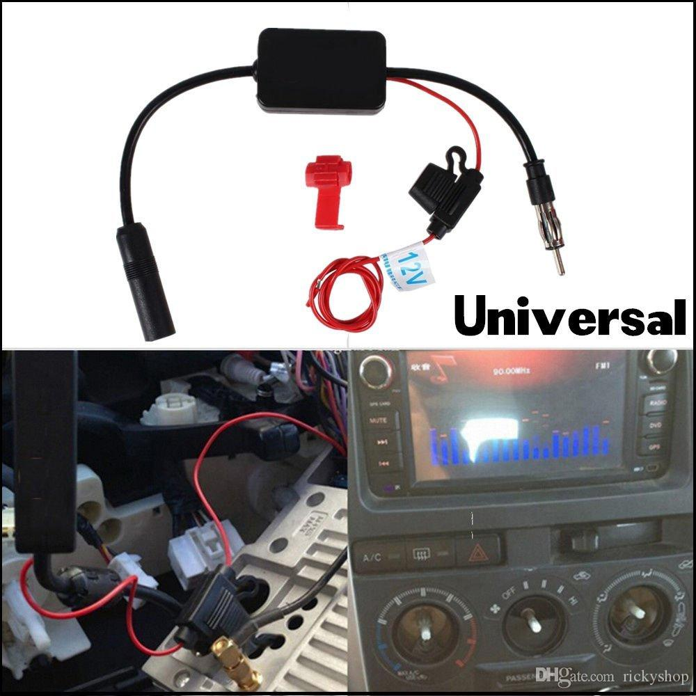 DC 12V CAR TRUCK STEREO ANTENNA FM AM RADIO INLINE SIGNAL AMP AMPLIFIER  BOOSTER