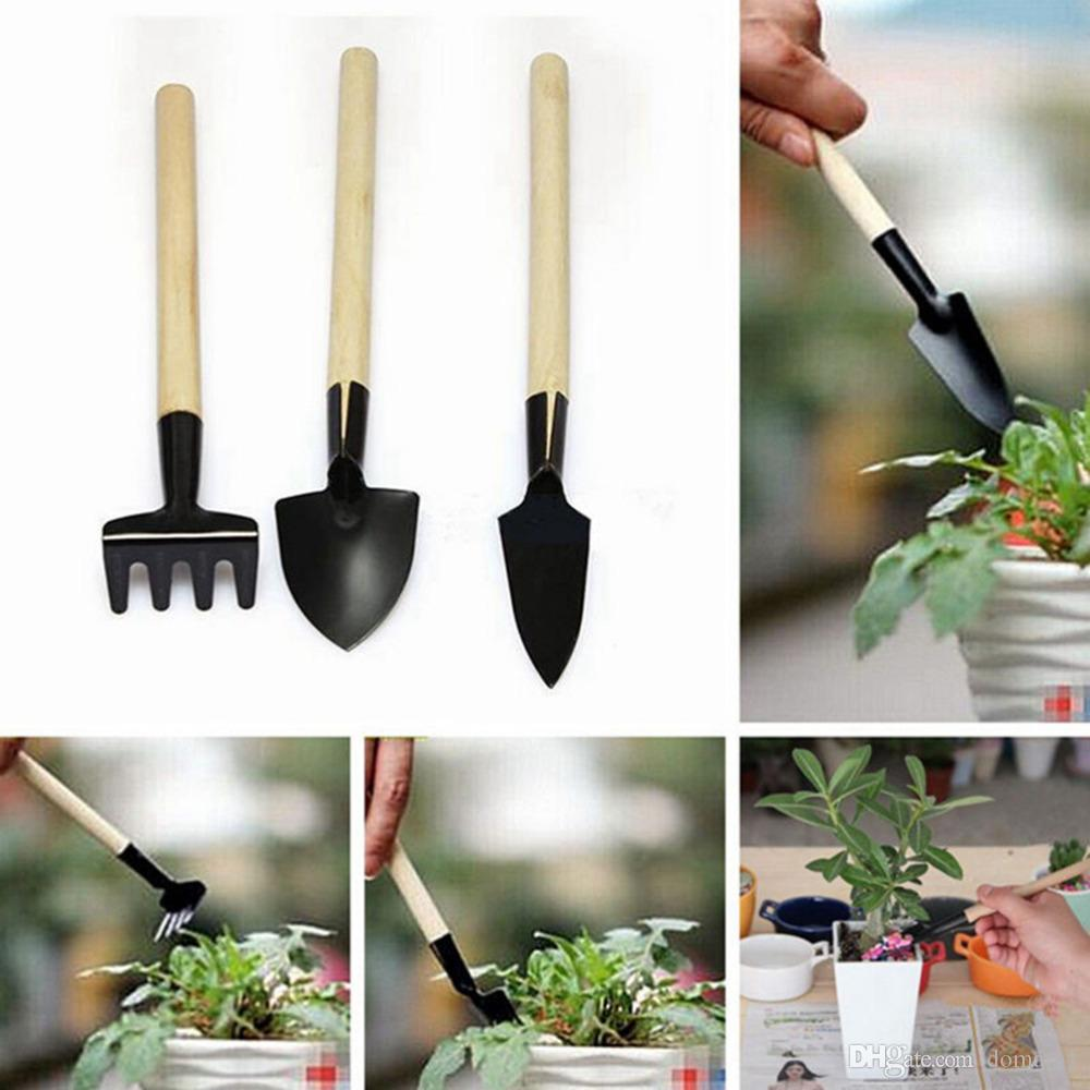 Mini Hand Tool Kit Shovel Rake Garden Plant Tool Set With Wooden Handle Gardening  Tool Shovel Rake Garden Plant Tool Set 3pcs Mini Hand Tool Kit Wooden ...