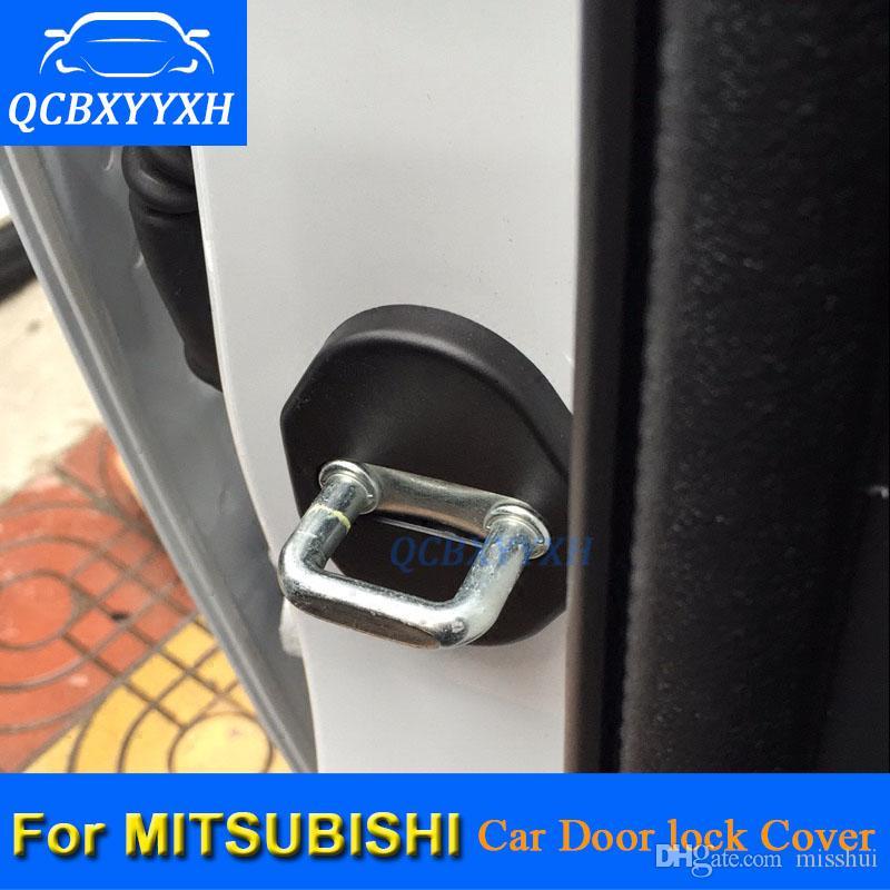 QCBXYYXH 4шт/много ABS автомобиля дверной замок защитной крышки для Outlander Мицубиси Паджеро Лансер ASX и Фортис Gelant стайлинга автомобилей