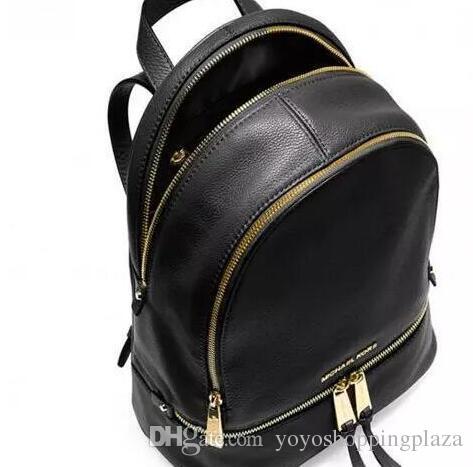 Wholesale backpack - backpacks designer fashion women lady black red rucksack  bag charms
