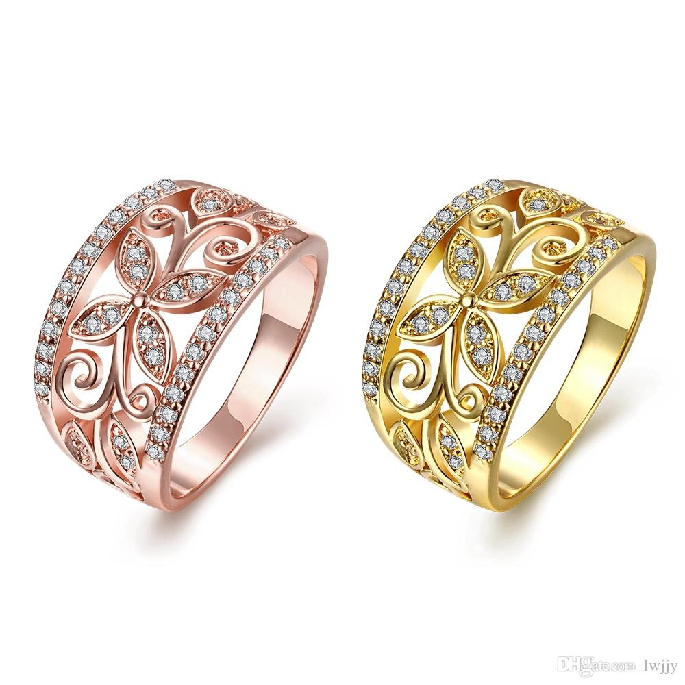 Korean And European Style Serpentine Ring Alloy Gold Pink Silver