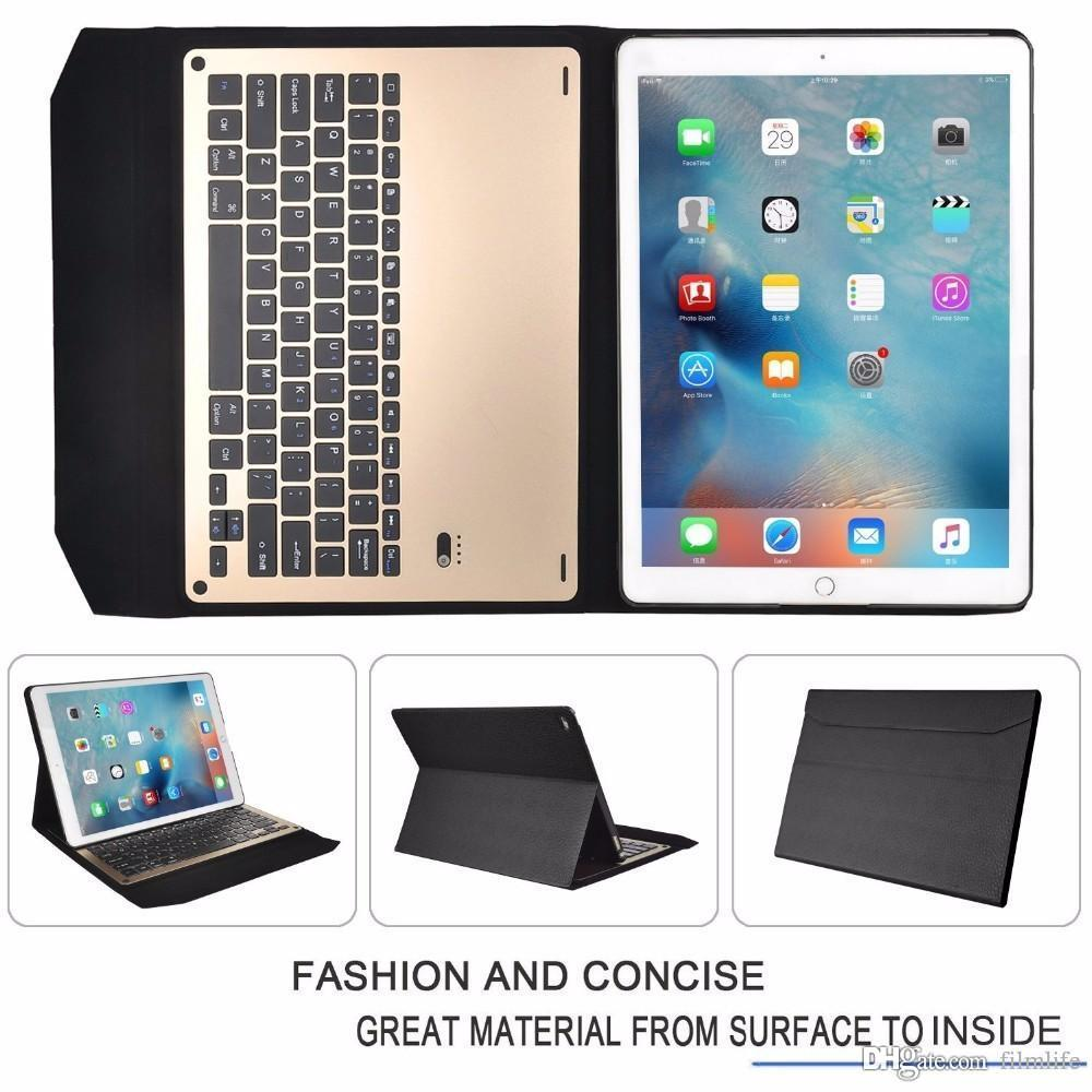 premium selection aa580 8c418 Tablet Keyboard Case for iPad Pro,Ultra-thin aluminum Bluetooth Keyboard  Portfolio Case for Apple ipad pro 12.9/9.7inch tablet