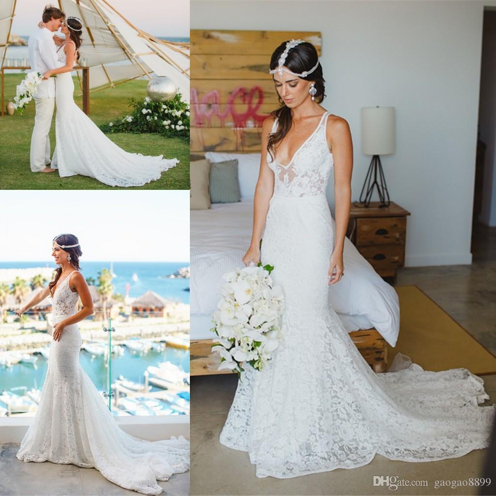 Inbal Dror Wedding Gowns: Discount Inbal Dror Vintage Lace Boho Country Beach