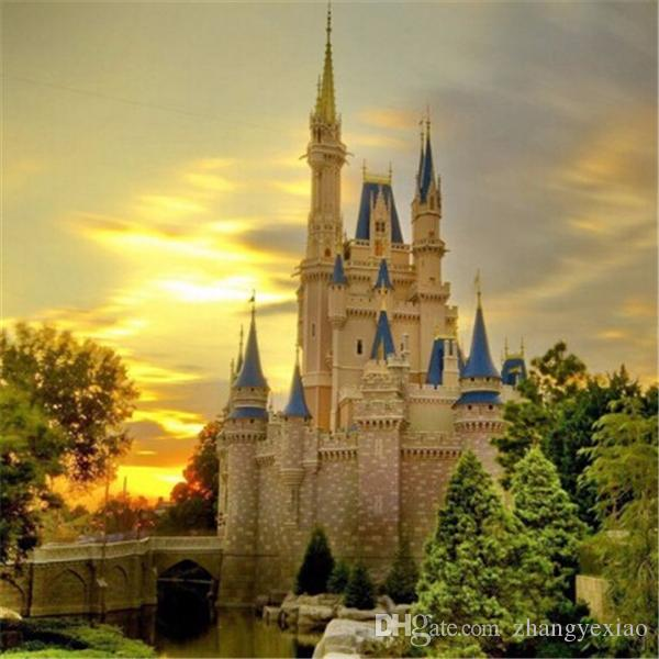 New DIY 5D Mosaic Diamond Painting Cross Stitch kits scenery castle full Resin square Diamonds Embroidery needlework Home Decor zf0133
