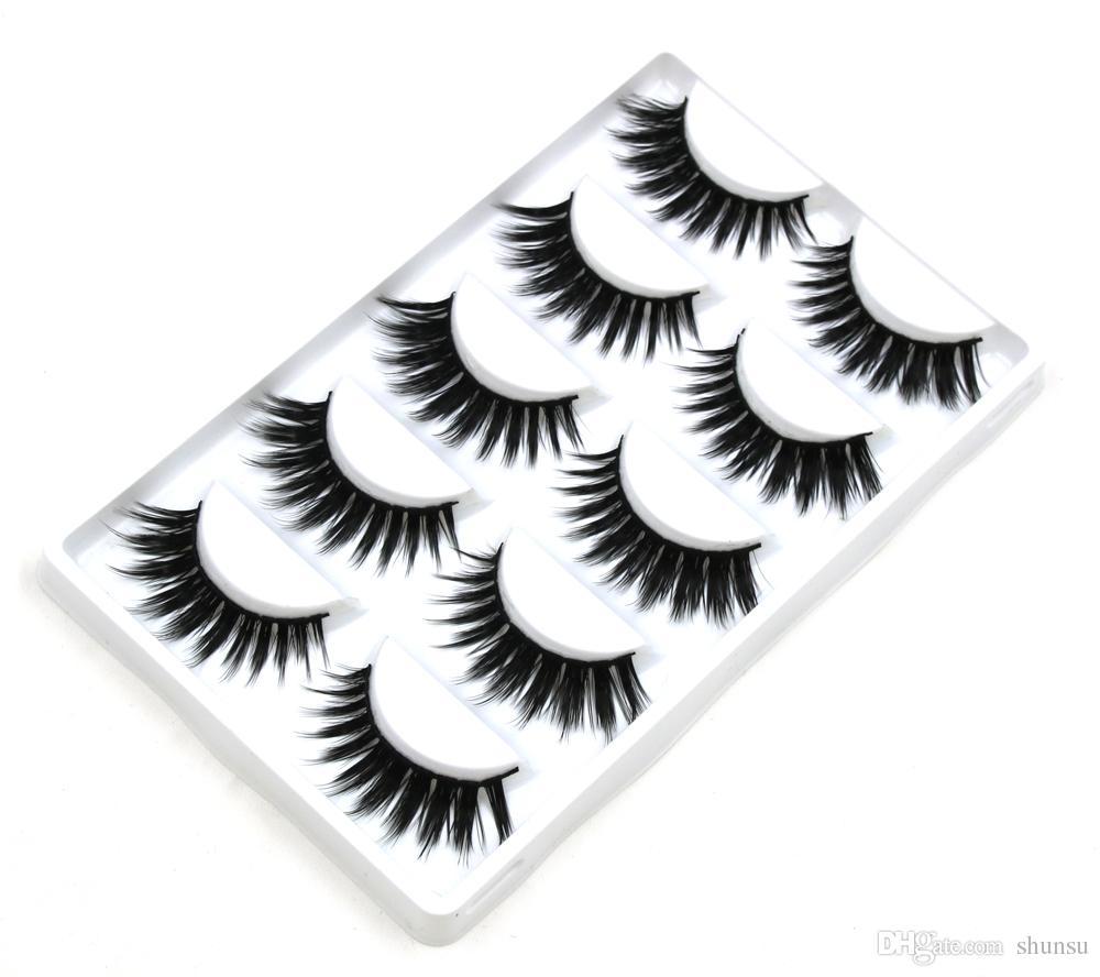 New Makeup Tools Thick False Eyelashes Tool Art studio Makeup False Eyelashes Naturally Handmade Cross Fiber Holiday Eye Lashes