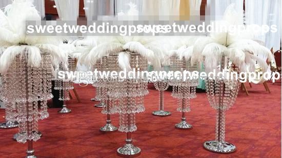 새로운 스타일 라운드 모양의 아크릴 샹 들리, 결혼 테이블 장식 크리스탈 테이블 중심