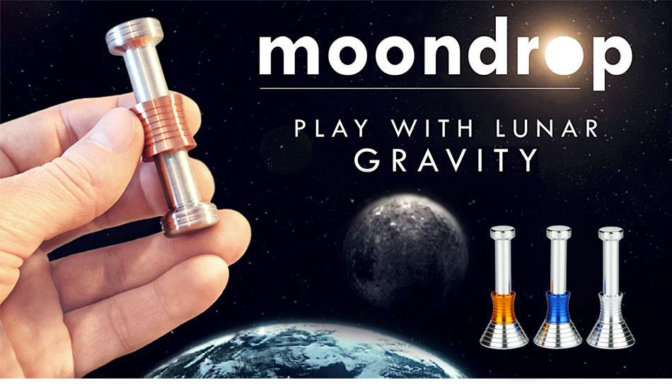 Do Dower MOONDROP Fidget Desk Toy Displaying Gravity Moon Drops Fidget Hand Spinner Metal Science Fidget Toys for Kids Adults