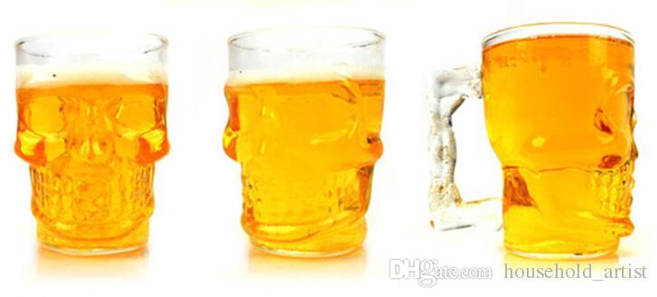 500ml Crystal Skull Glassware Big Size Skull Beer Wine Glasses Fruit Juice Cups Handmade Drink Mugs Glass