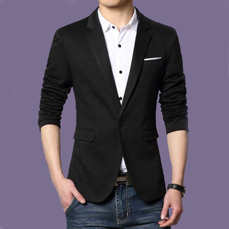 9e6e38fb150 New Arrival Men s Blazer Slim fit Jackets Black Suit Top Quality Male  Single Button Design Blazer Wedding Blazer Suit Jacket