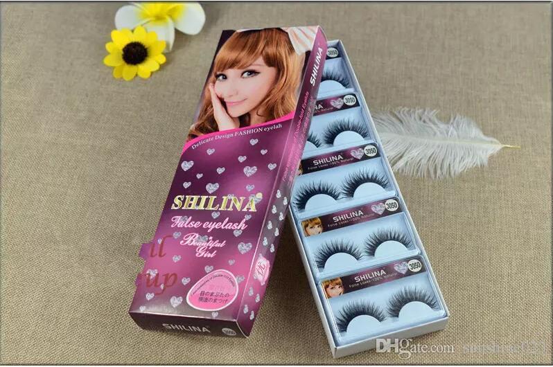 SHILINA 3050 pestañas falsas de visón natural 1 par de pestañas largas de alta calidad pestañas falsas extensión banda de maquillaje al por mayor