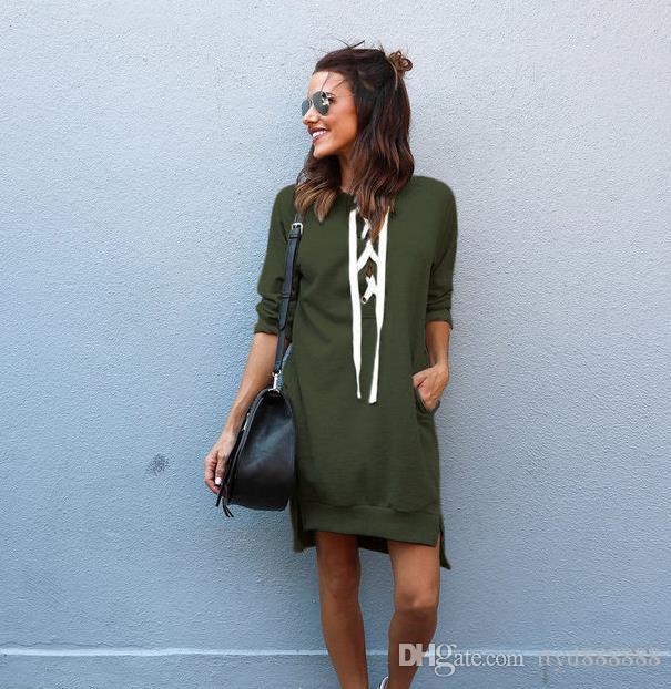 YENİ Bayan Kış Modası Uzun Kol Bayan Kapüşonlular Sweatshirtler. Ücretsiz kargo