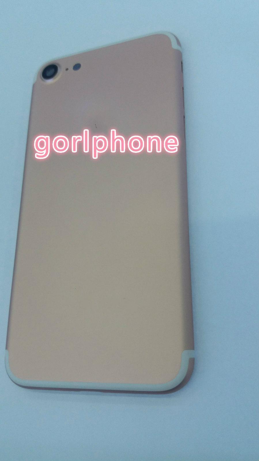 Verdadero original Plating Volver cubierta de la cubierta de la piel puerta de la batería para el iPhone 7 7+ caja móvil original del teléfono celular orden mixta
