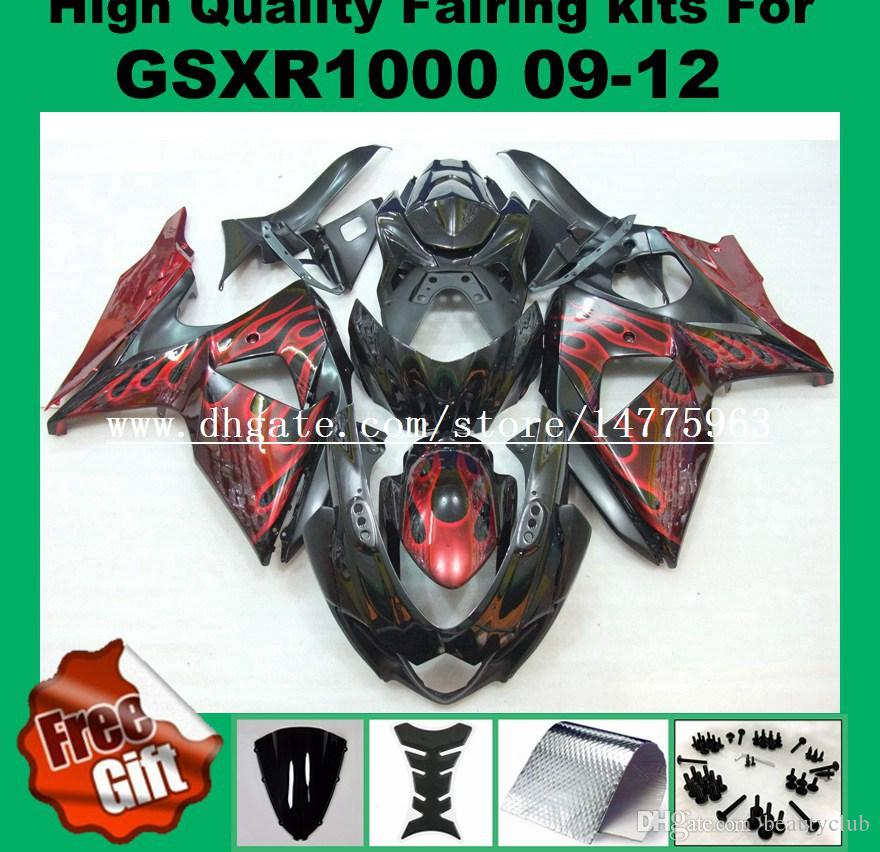 Injection Fairing kits for SUZUKI GSXR1000 2009 2010 2011 2012 GSX-R1000 09 10 11 12 K9 Fairings kit .. 9gifts