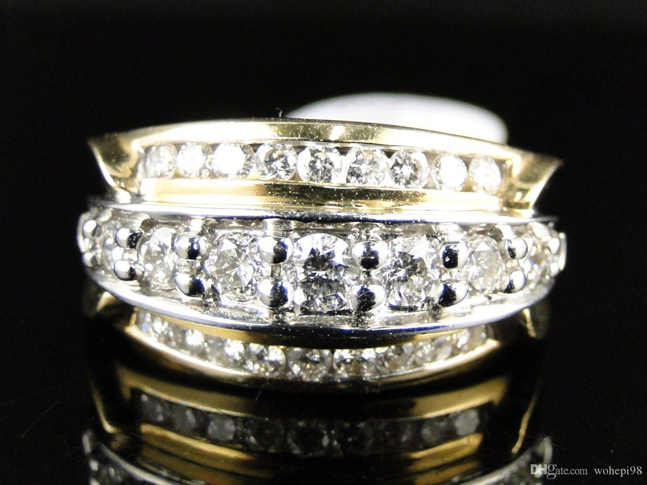 cz style vintage ring engagement bling solitaire jewelry diamond round rings shn sterling