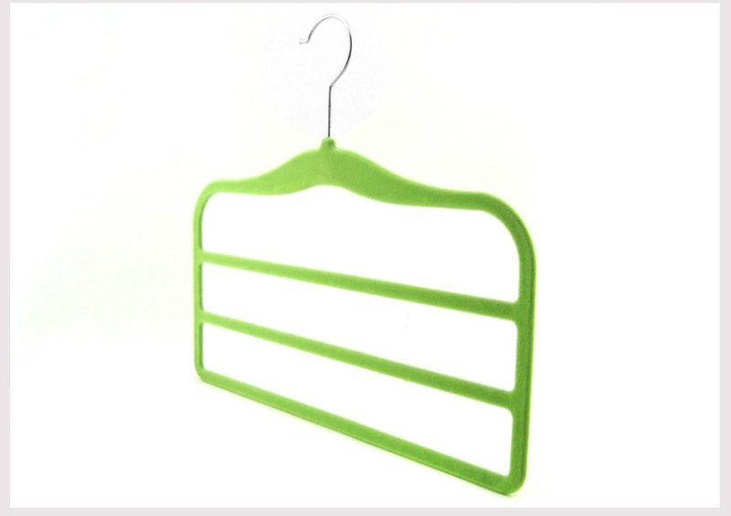 33cm Magic Flocking Hanger Non-slip ThinVelvet Hangers Space Save Closet Racks Clothes Trousers Pants Ties Scarf 3 Crosses for Children Baby
