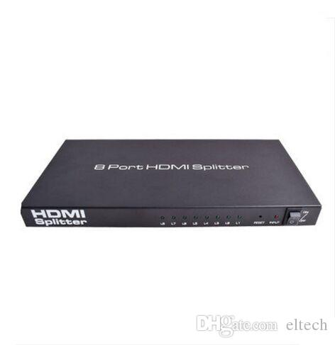 3D,HD 1080p Video HDMI Switch Switcher 1X8 Splitter 1 in 8 Out Amplifier Dual Display Hub For HDTV DVD PS3 Xbox