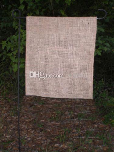 DIY Burlap Garden Flag 31 * 46cm 주트 프릴 린넨 마당 국기 집 장식 휴대용 배너 4 가지 스타일 무료 DHL WX9-02