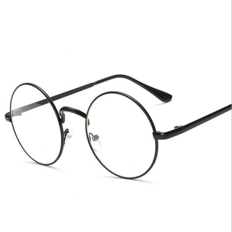 Compre Peekaboo Barato Pequeno E Redondo Óculos Nerd Lente Clara Unissex  Ouro Rodada Óculos De Armação De Metal Quadro Óptico Homens Mulheres Preto  Uv ... 16e75a0b72
