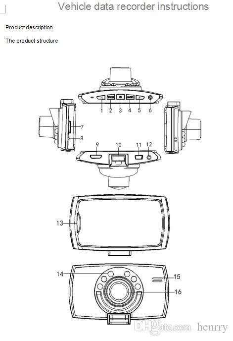 2.4 Inch Car DVR Dash Cam Corder PZ907 Parking Monitoring Motion Detection One Key Lock Cycle Recording G Sensor Camera Free Post
