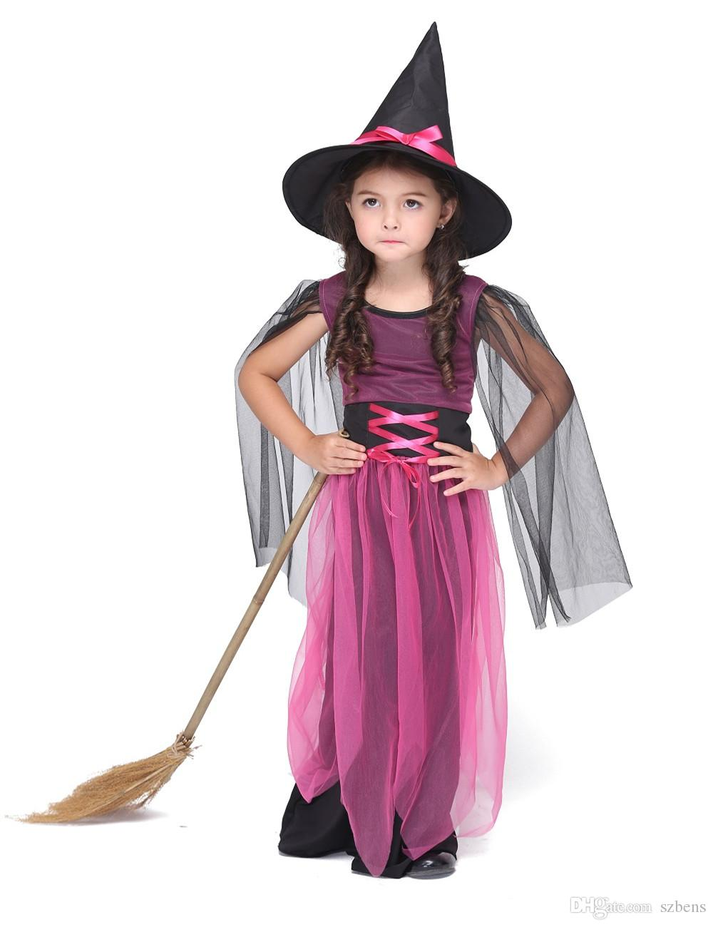 hot selling girl witch dress costume halloween costume for kids stage u0026 dance wear toddler long dress party cosplay rose red dog halloween costumes plus