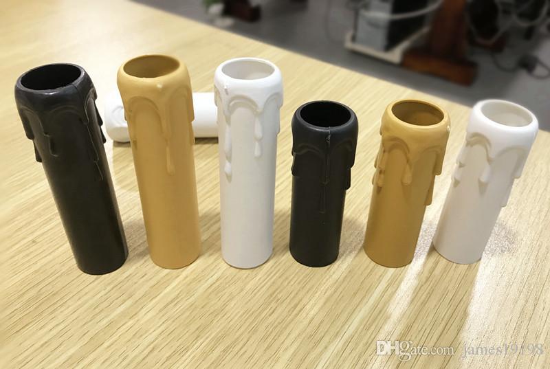 ضياء 25 ملليمتر جديد البلاستيك القياسي المقبس الثريا شمعة غطاء مع بالتنقيط 3 ألوان شحن مجاني