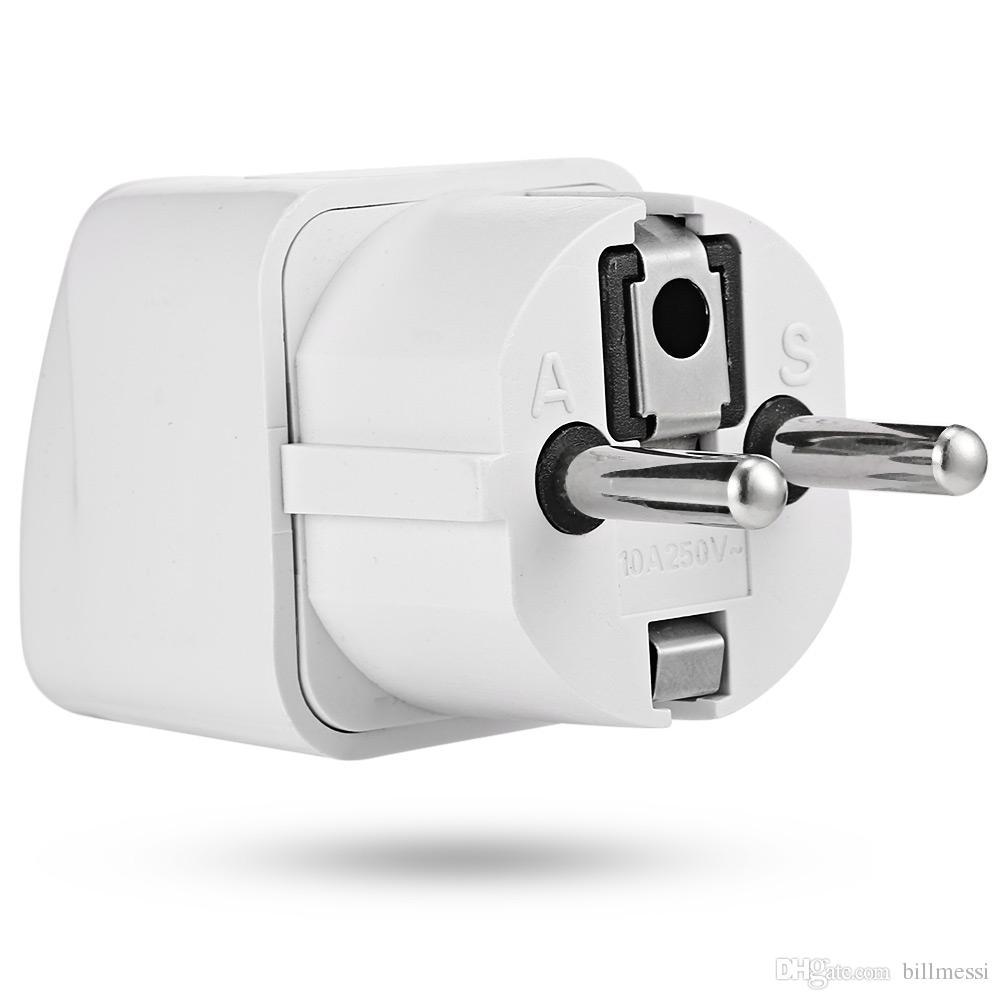 Plugue DA UE Universal Adaptador De Tomada De Energia AC Tomada de Carregador de Parede Conversor de 2 Pés de Entrada Redonda PIN Quente de ALTA QUALIDADE + B