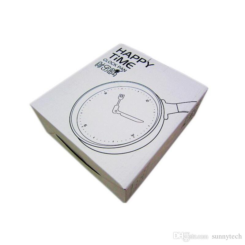 Creative Omelette Pan Wall Clock Decor Living Room Horloge Watch Flat Bottom Pot Alarm Clock Fried Egg Decoration ZA2646